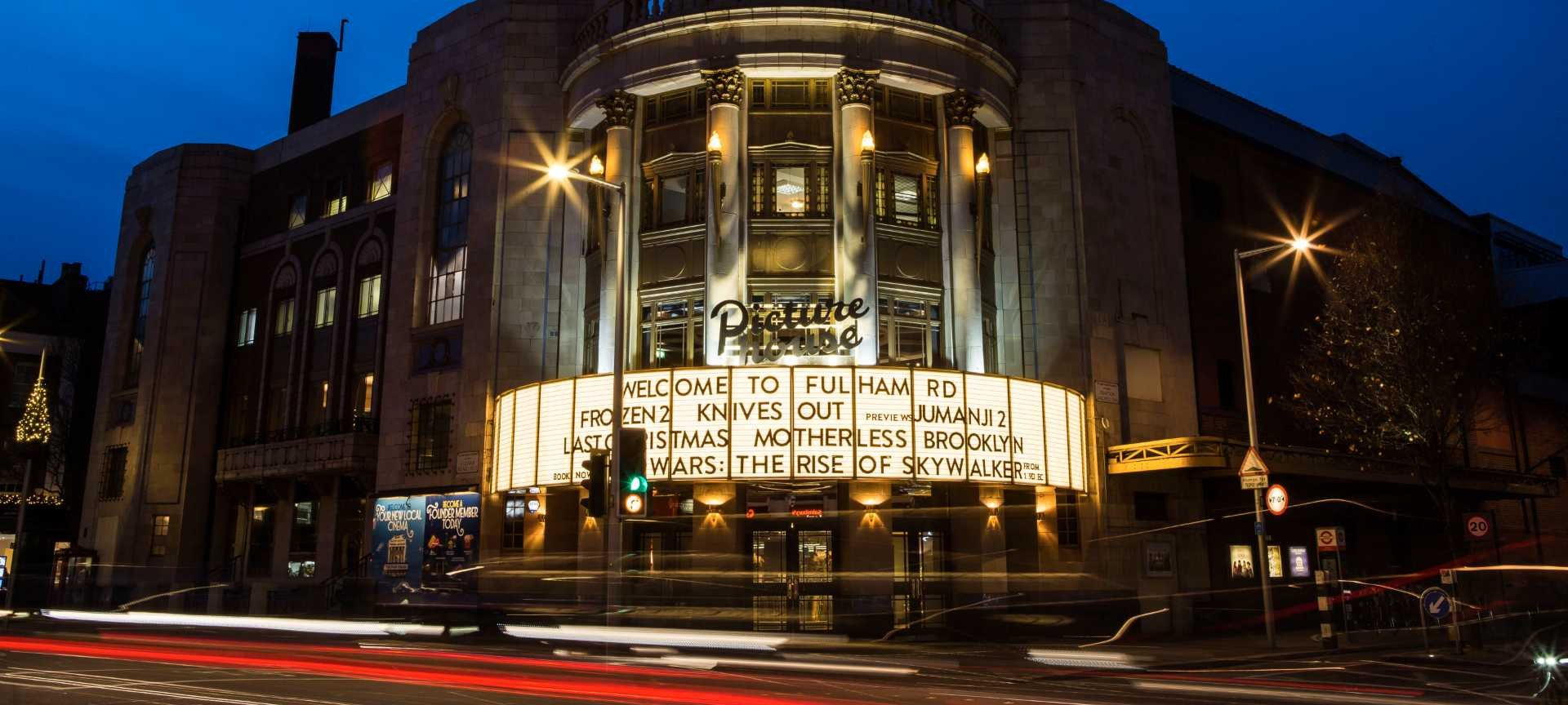 Outdoor screen panels - illuminated sign design – Picture House