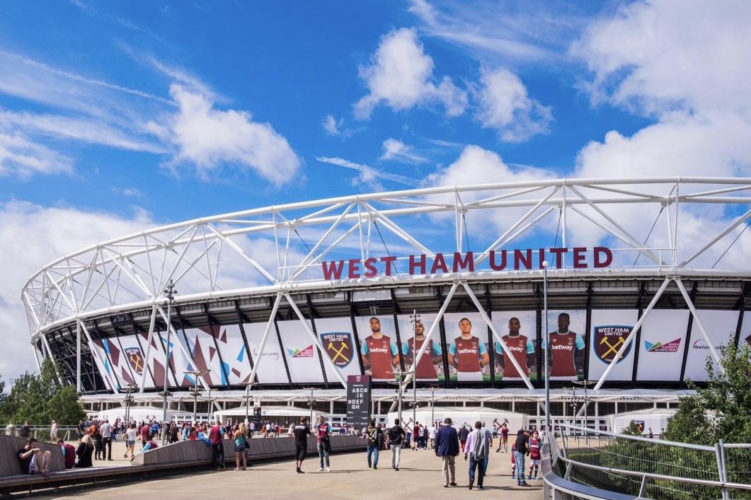 Corporate exterior signage - West Ham United Stadium