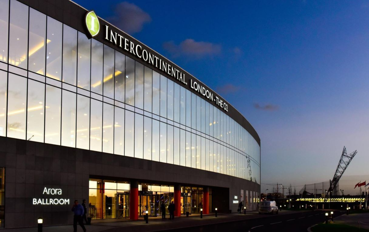 illuminated sign manufacturers – London continental at The O2