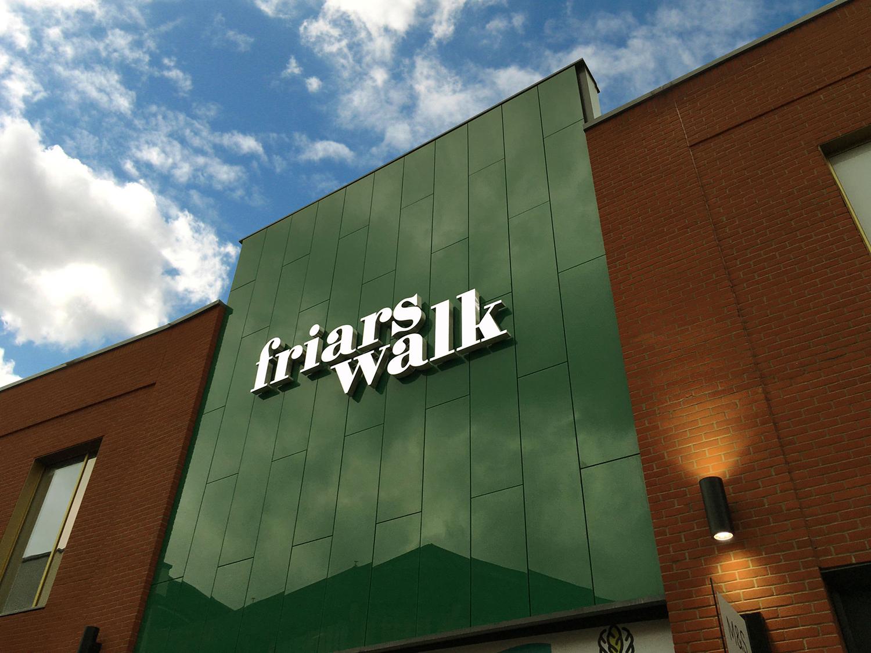 Shop front sign letters – Friars Walk