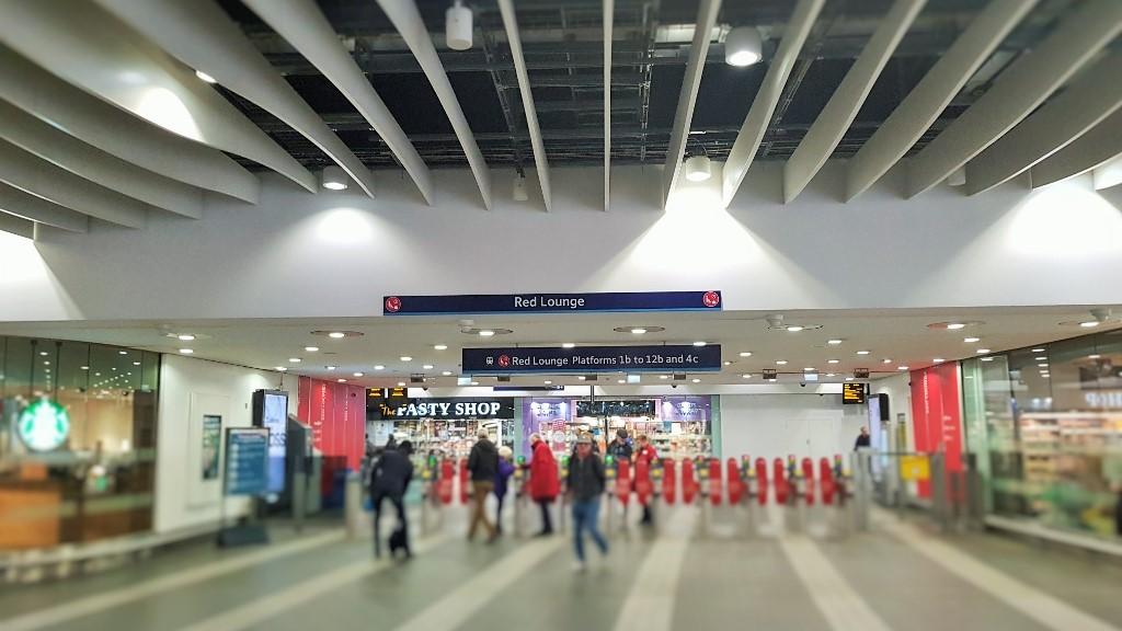 Internal wayfinding signage – Train station signage