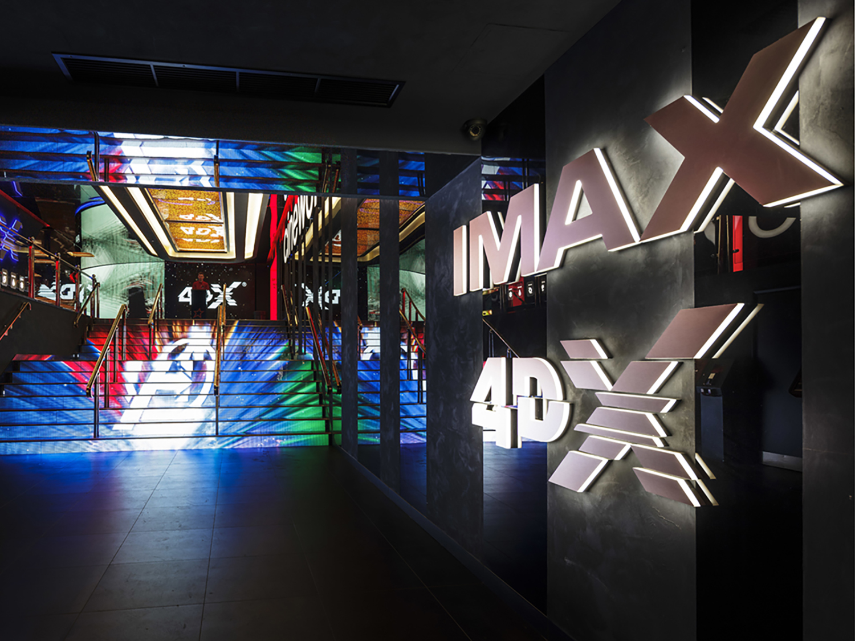 Illuminated sign manufacturers - IMAX cinema sign